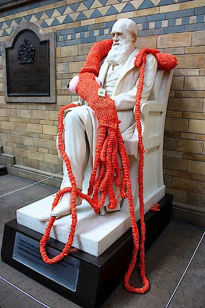 Giant Yarn Squid Knitted Graffiti Statue Street Art