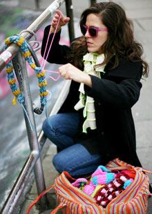 Magda Crochet Graffiti Artist Yarn Bombing